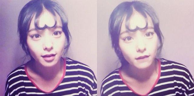 前髪をハートに♡シースルーバングをアレンジしたヘアスタイル「ハートアップモリ」が気になる