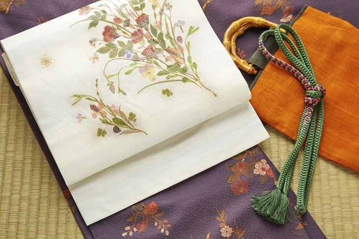日本和服飾帶的示意圖