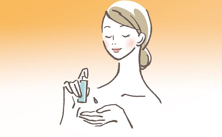 卸妝油使用示意圖
