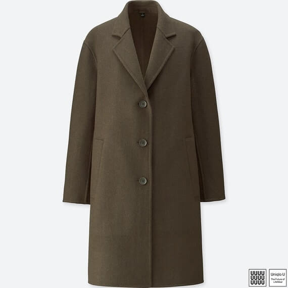UNIQLO推薦-雙面織紋長大衣