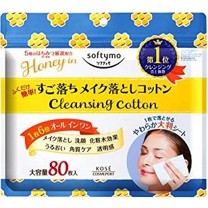 KOSE高絲 Softymo 蜂蜜精華卸妝濕巾 推薦4