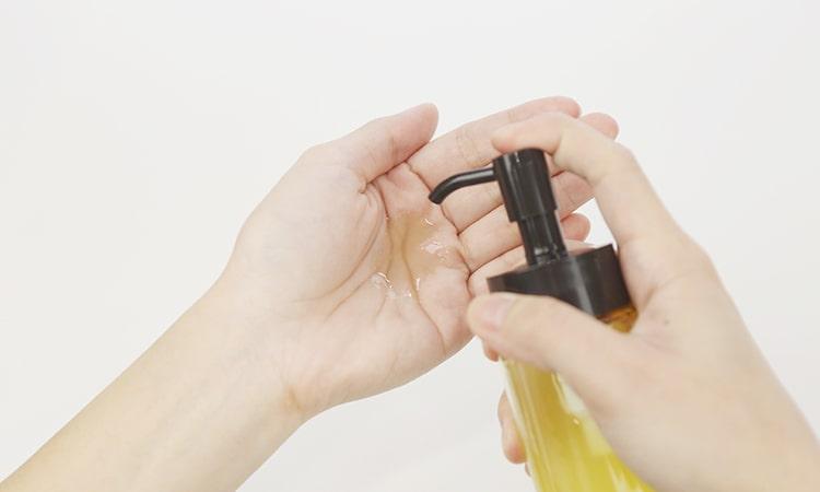 壓3下卸妝油最適量