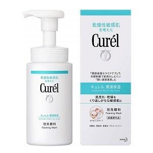 敏感肌專用洗面乳推薦-Curél潤浸保濕洗顏慕絲